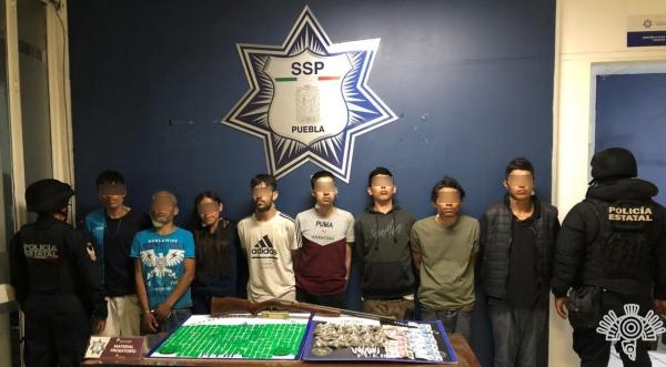 Caen presuntos operadores de la banda Los Angelinos 13 en Atlixco