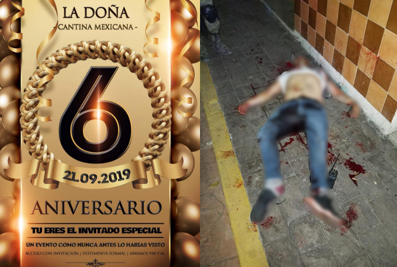 Sexto aniversario de La Doña Cantina Mexicana terminó en tragedia