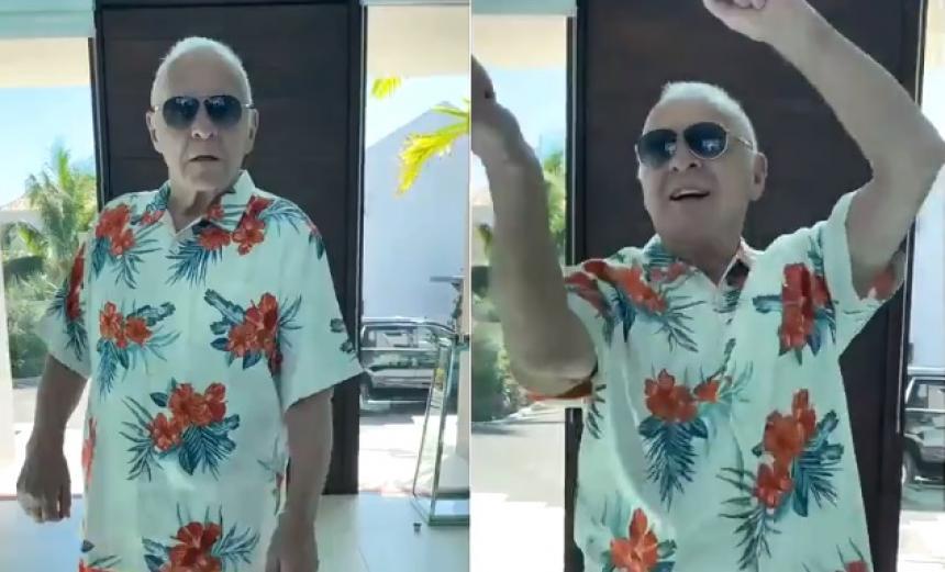 VIDEO Anthony Hopkins baila merengue en Twitter