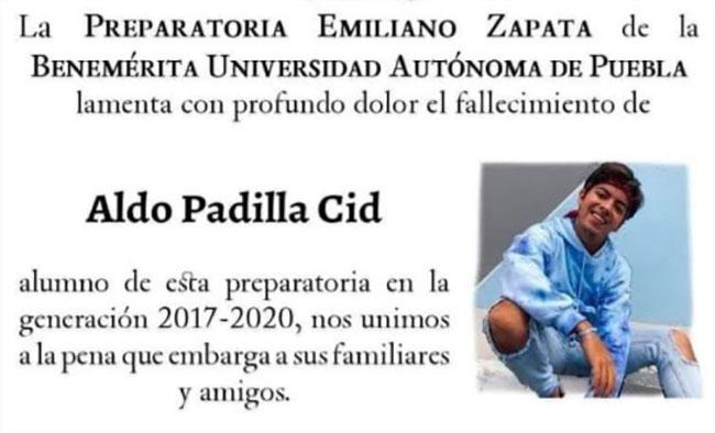 Apuñalan a joven egresado de preparatoria BUAP en Puebla