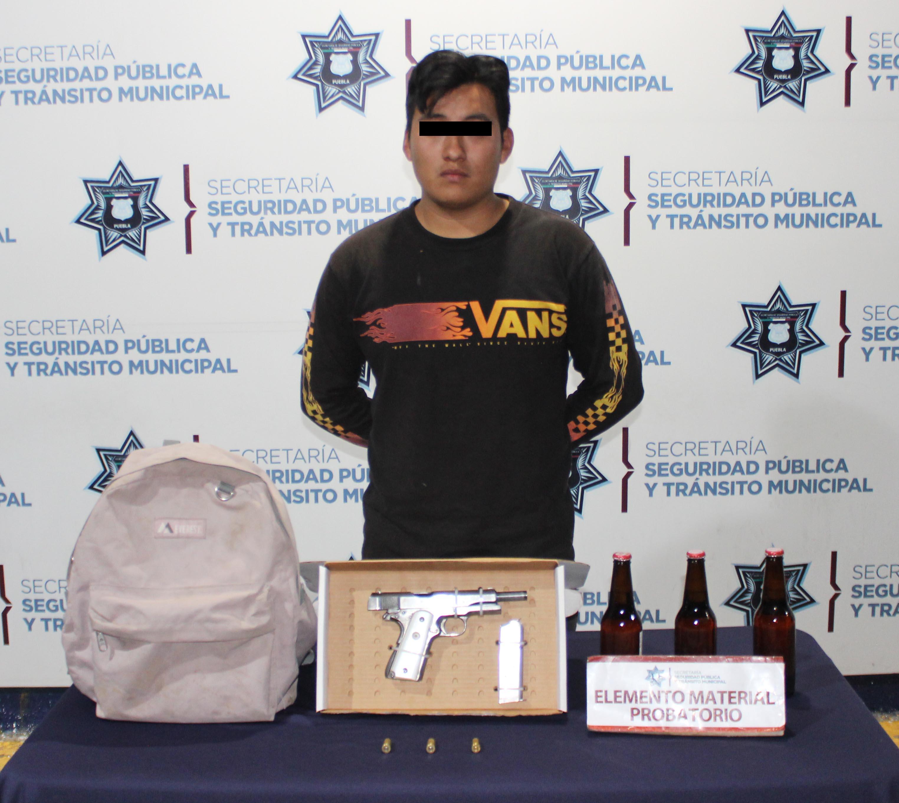 Lo detienen en la capital con arma de fuego ilegal
