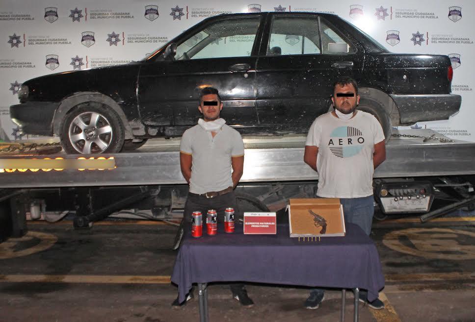 Detienen a tres por portar armas de fuego sin permiso en Puebla