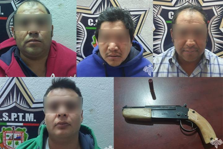 Por escopeta los acusan de traficar armas en Texmelucan