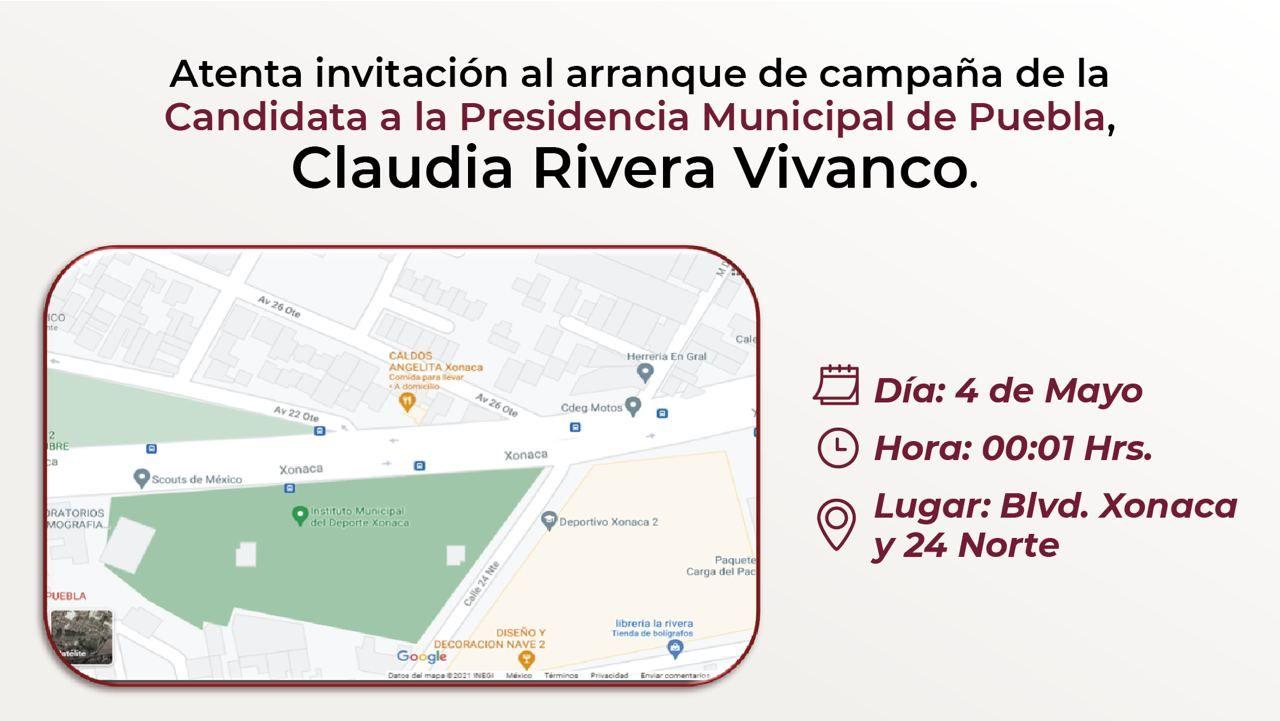 Cancelan Claudia Rivera y Eduardo Rivera arranques de campaña