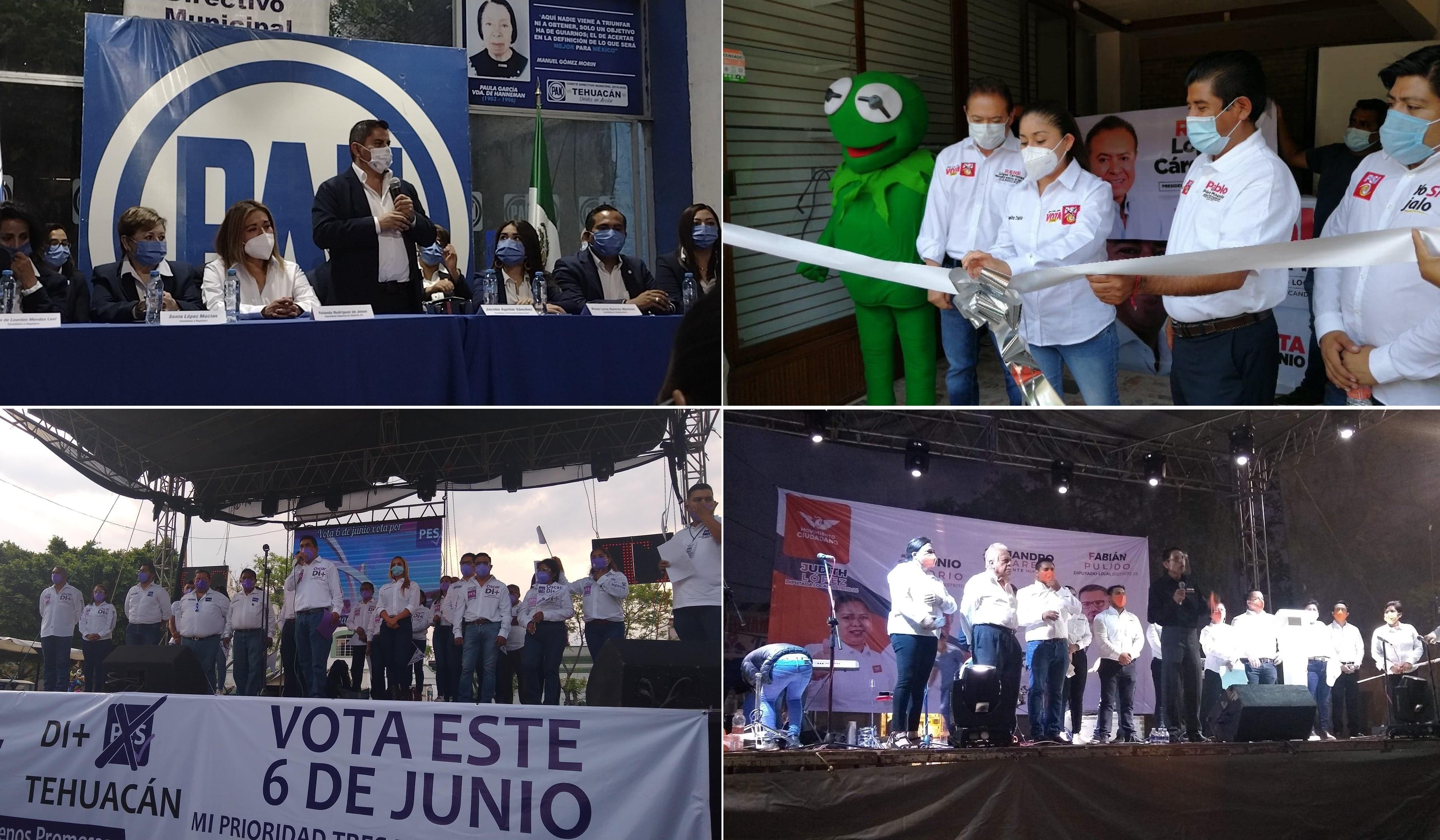 Confuso arranque de campañas en Tehuacán tras retraso del IEE