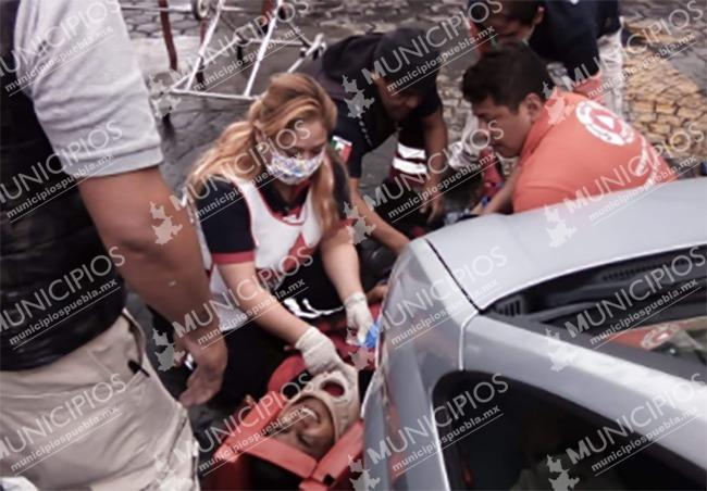 VIDEO Fue arrollado por su vehículo en Ciudad Serdán