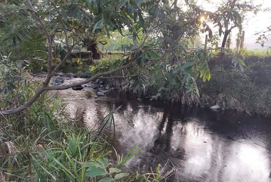Derrame de Pemex contamina riachuelo en Venustiano Carranza