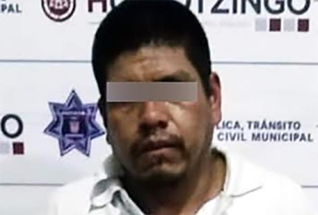 Liborio golpeó a su pareja hasta fracturarle las costillas en Huejotzingo