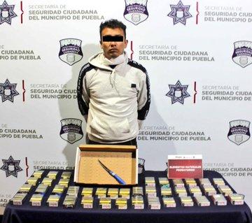 Atrapan a multiasaltante de tiendas Oxxo; operaba en Puebla y Amozoc