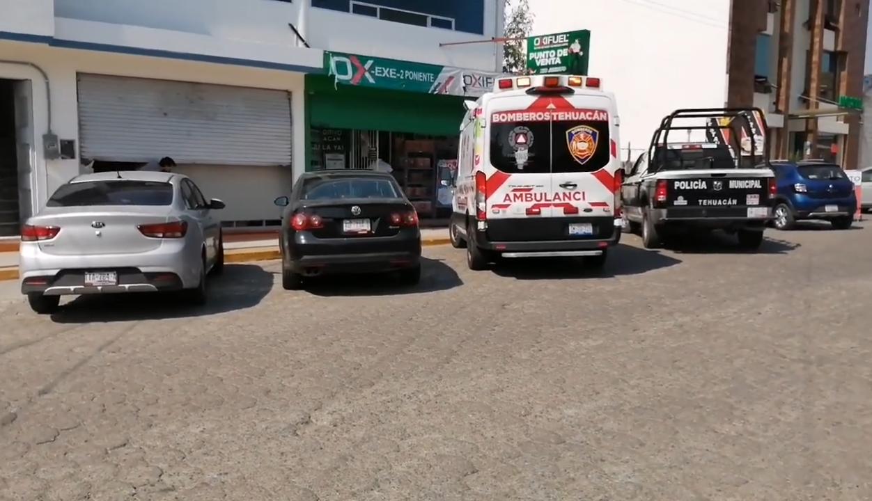 A punta de pistola arrebatan dinero y celulares de Oxifuel en Tehuacán