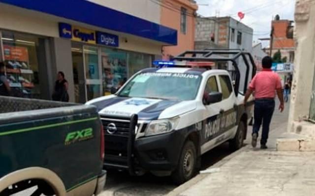 Comando armado asalta Coppel en centro de Amozoc