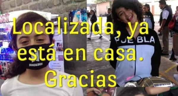 Confirman localización de Ashly, de 12 años, en Tehuacán