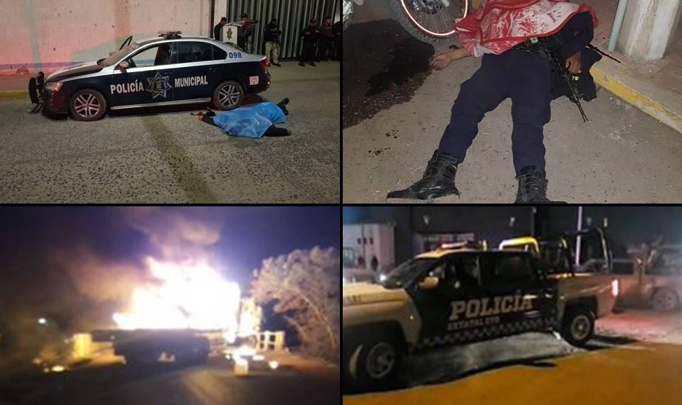 Atacan Seguridad Pública, asesinan a 3 policías y levantan a 4 más