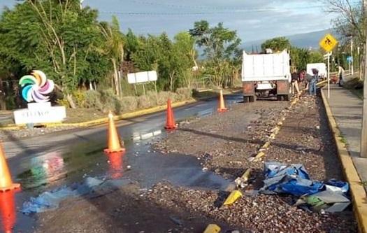 Lluvia arrastra y deja basura en ciclovía  y calles de Atlixco