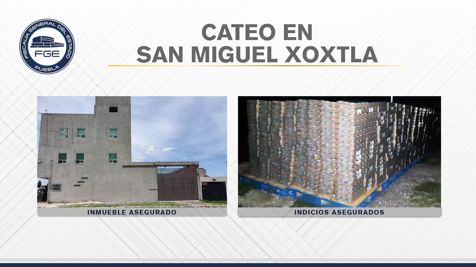 FGE recuperó en Xoxtla más de 90 mil latas de atún robadas