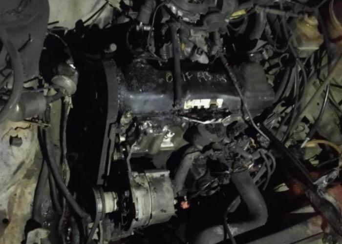 Se incendia auto en el centro de Atlixco