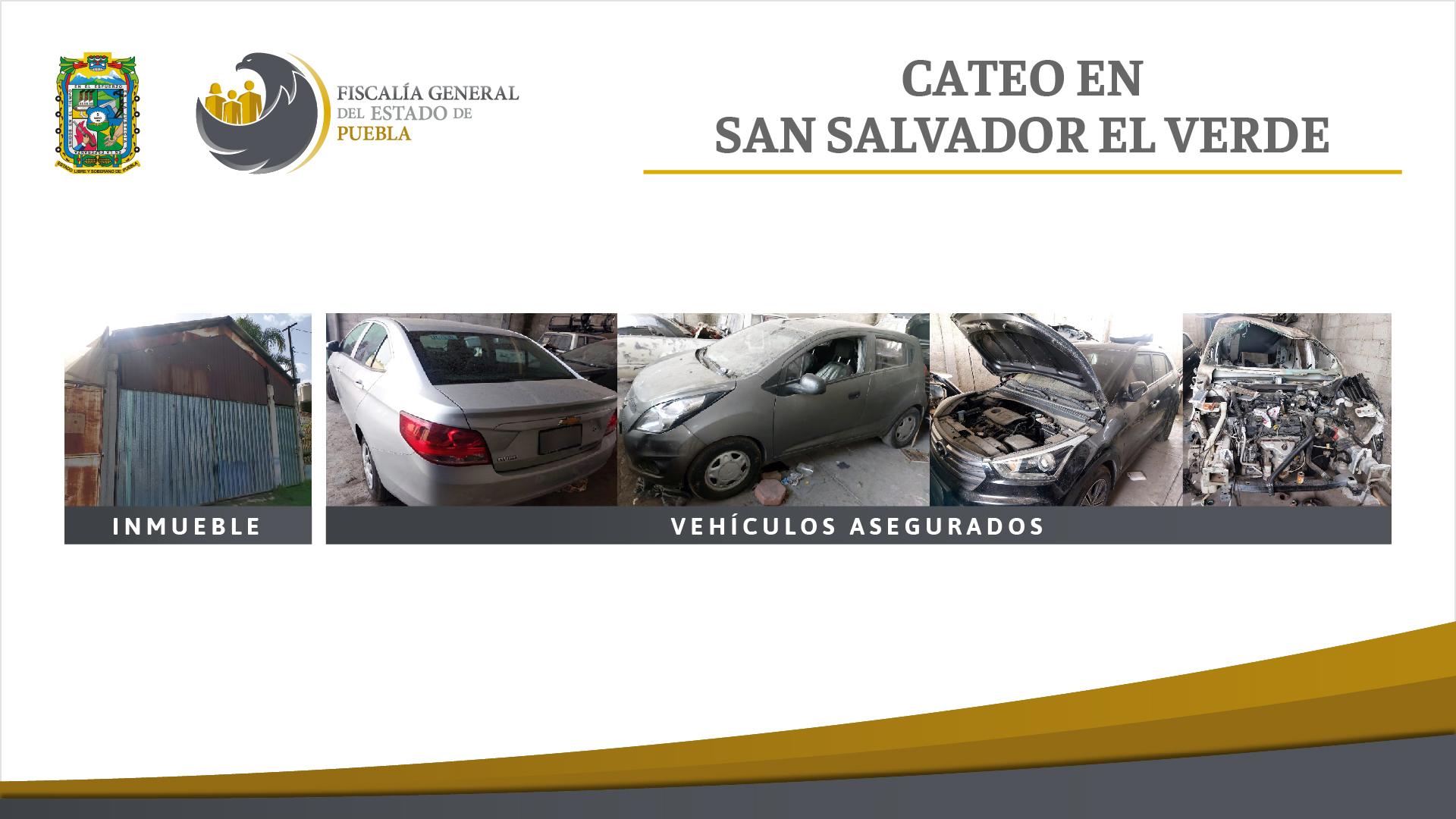 Hallan inmueble donde desmantelaban autos robados en San Salvador El Verde