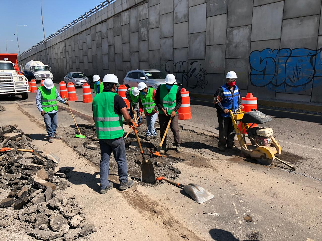 Inician trabajos de conservación en la México-Puebla; prevén tráfico lento
