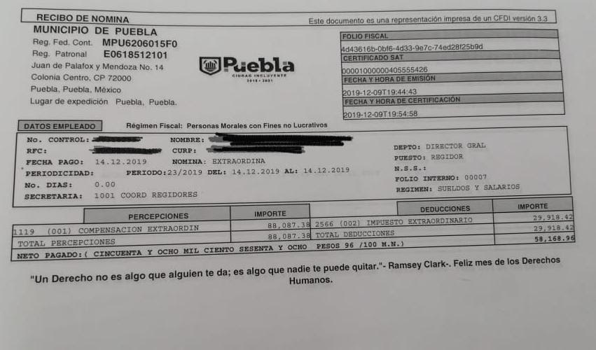 Morena exige a Rivera transparentar el manejo de 1.3 mdp