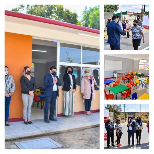 Entrega edil de Coronango obra educativa y pavimentación
