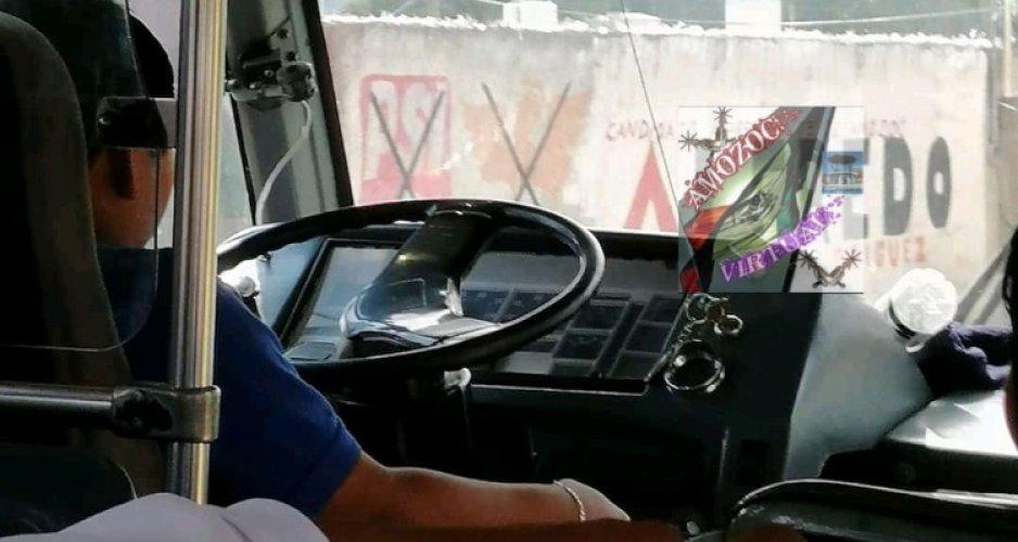 Captan a niño de 12 años conduciendo en la ruta 100 Puebla-Amozoc