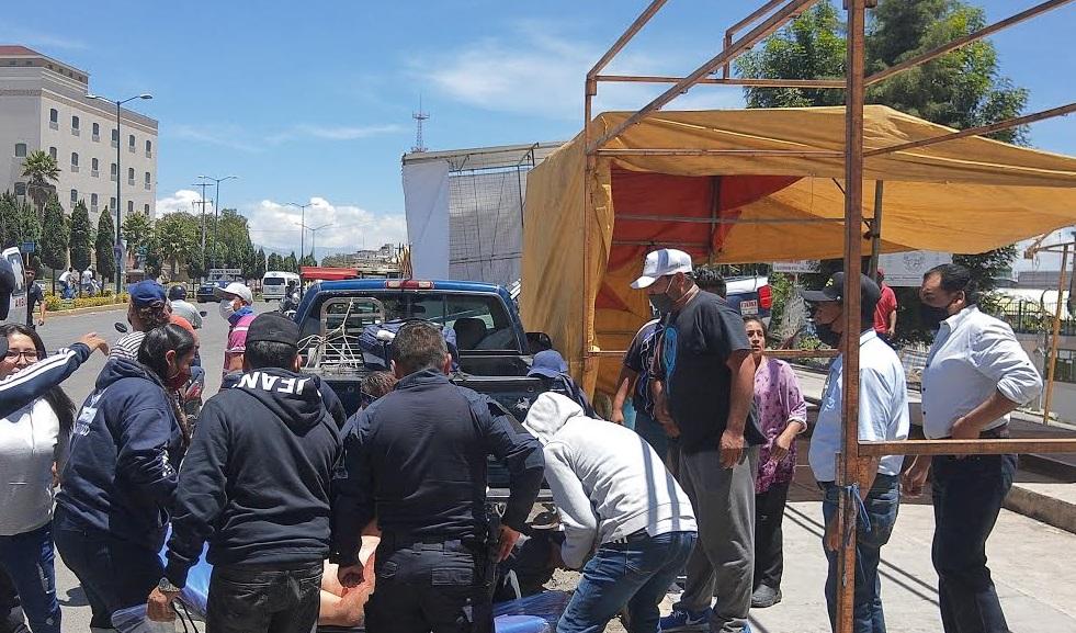 Elim Garzón, líder del tianguis de Texmelucan resultó herida
