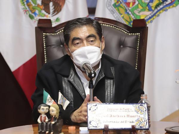 Presenta Barbosa plan Que Reviva Puebla para reactivar economía