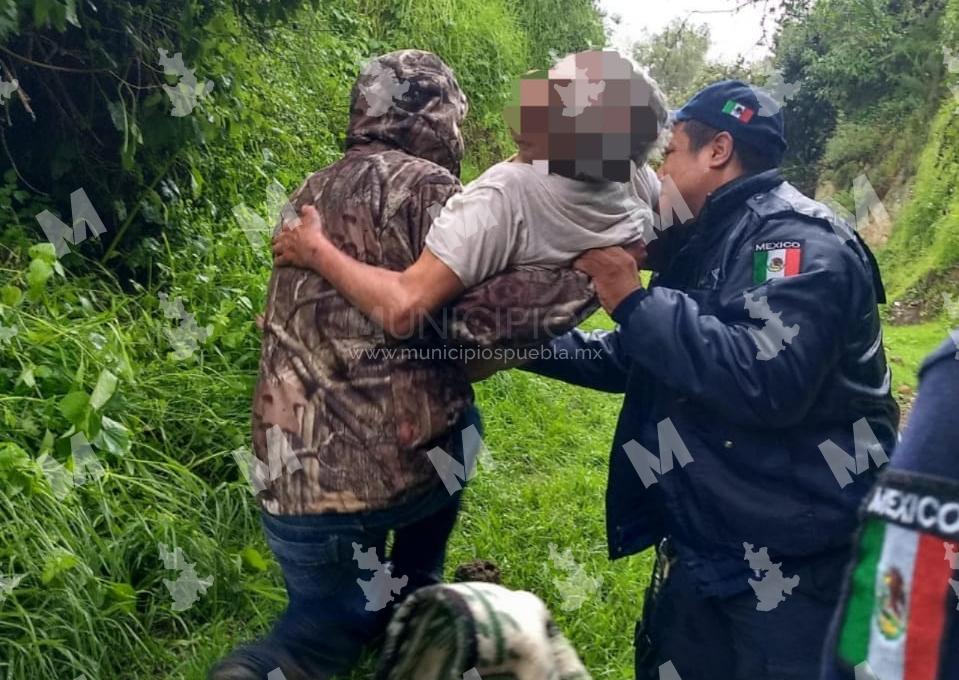 En una barranca hallan a hombre extraviado en Tlalancaleca