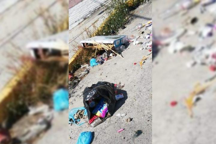 Se quejan habitantes de Atlixco de tiradero de basura