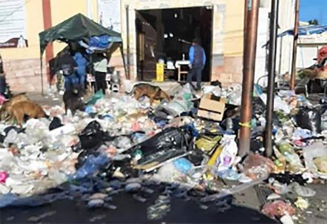 Montoneras de basura inundan mercado municipal de Acajete