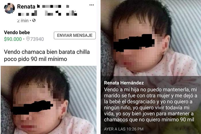 Vende a su bebé en Teziutlán porque su marido se fue con otra