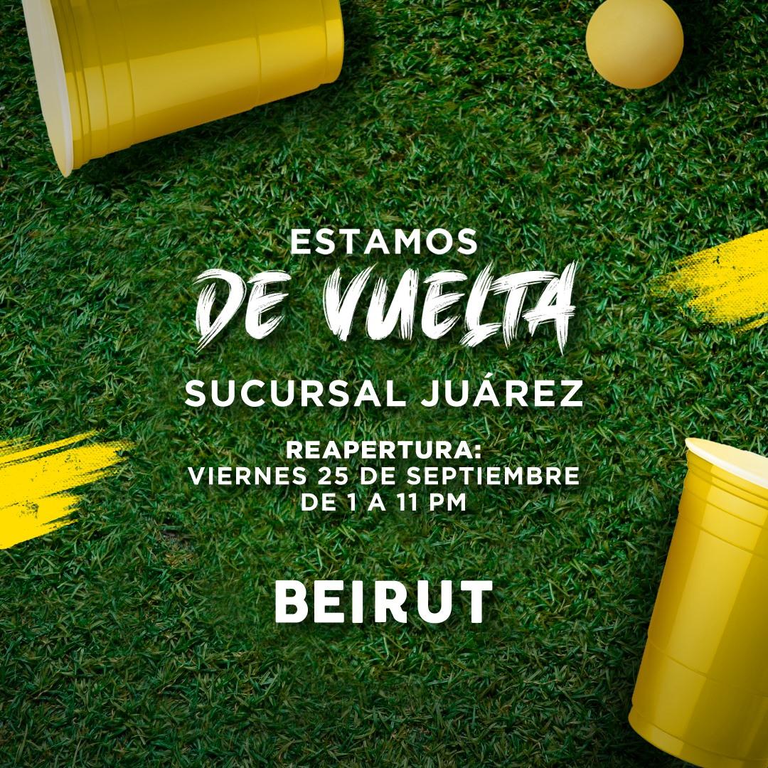 A pesar de contingencia, bar Beirut Beer Pong de la Juárez abre sus puertas