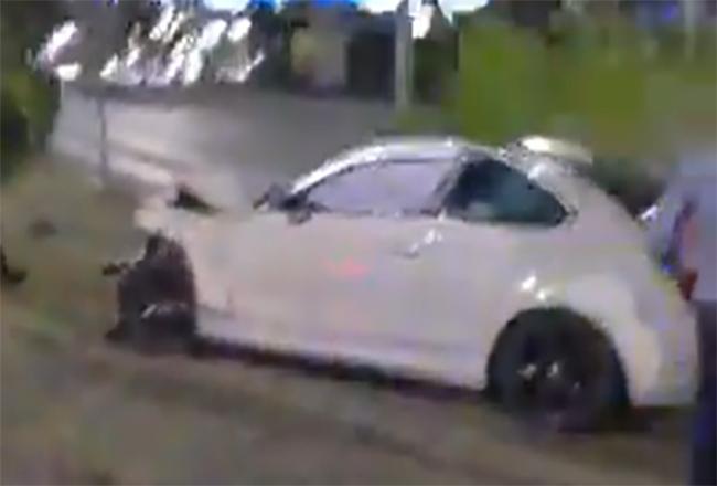 VIDEO Ebrio destroza su BMW contra un taxista en avenida de Las Torres, Puebla