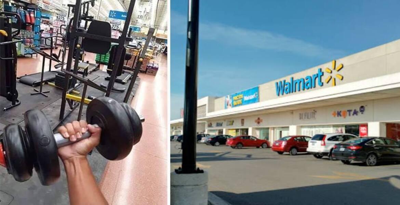 Darío usa un Walmart como gimnasio para no pagar membresía