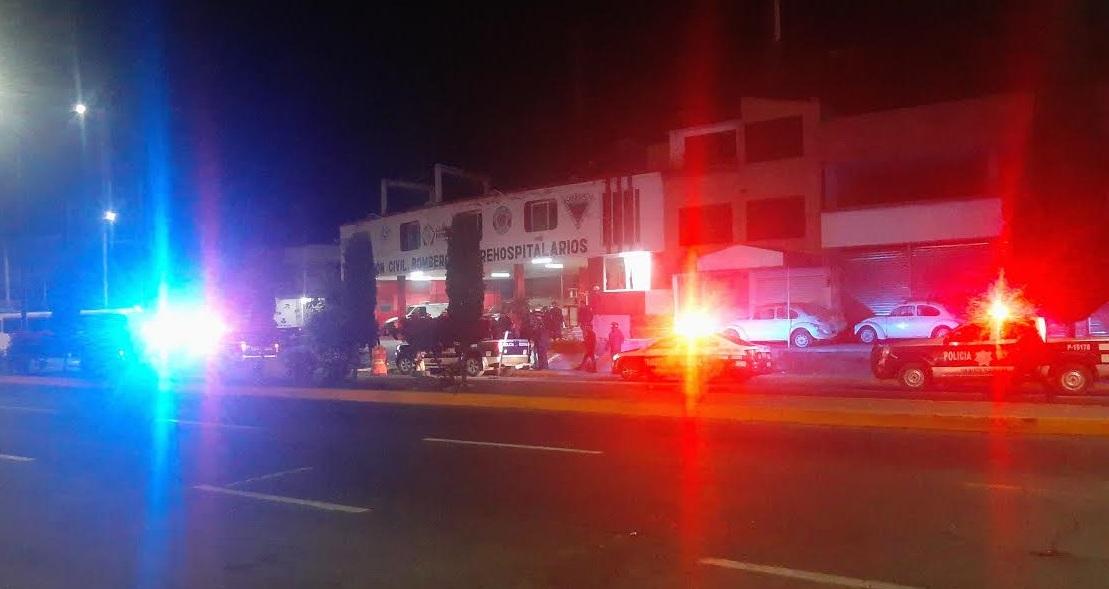 Ladrones inician balacera en acceso a Texmelucan