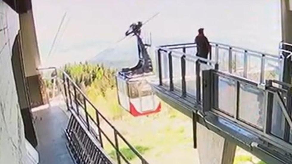 VIDEO Así fue la caída del teleférico que dejó 14 muertos