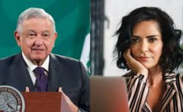 Lydia Cacho critica a AMLO por vallas colocadas en Palacio Nacional