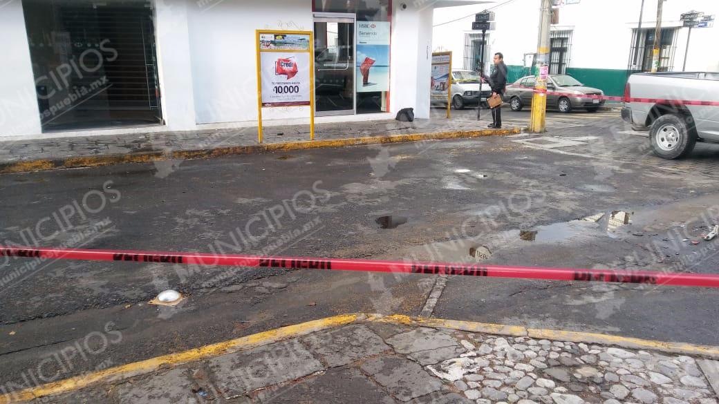 Intentan robar cajero en pleno zócalo de Tecamachalco