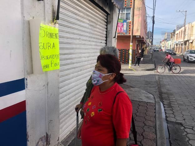 Cubrebocas obligatorio para caminar en calles de Atlixco