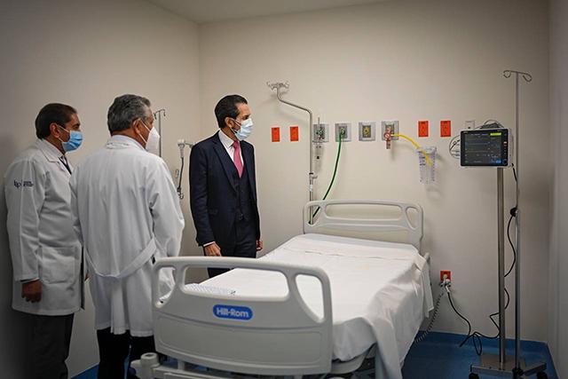 HUP de la BUAP tiene 18 nuevas camas en Unidad de Enfermedades Respiratorias
