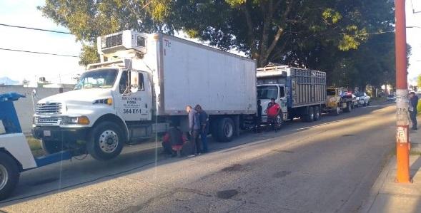 Recuperan camión con reporte de robo en Texmelucan