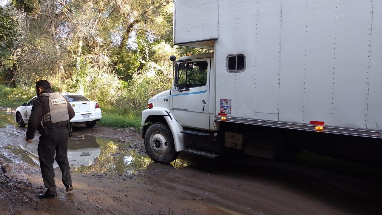 Abandonan en junta auxiliar de Texmelucan camión robado