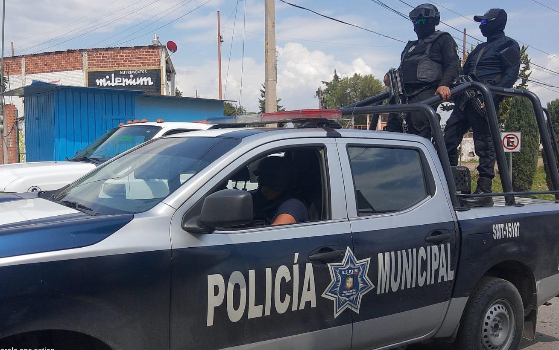 Tras balacera en Texmelucan aseguran a cuatro sujetos armados