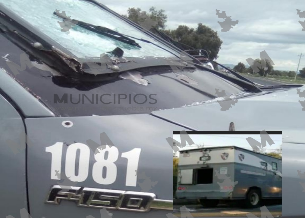 Rafaguean y roban 1.5 mdp de camioneta de valores en Puebla