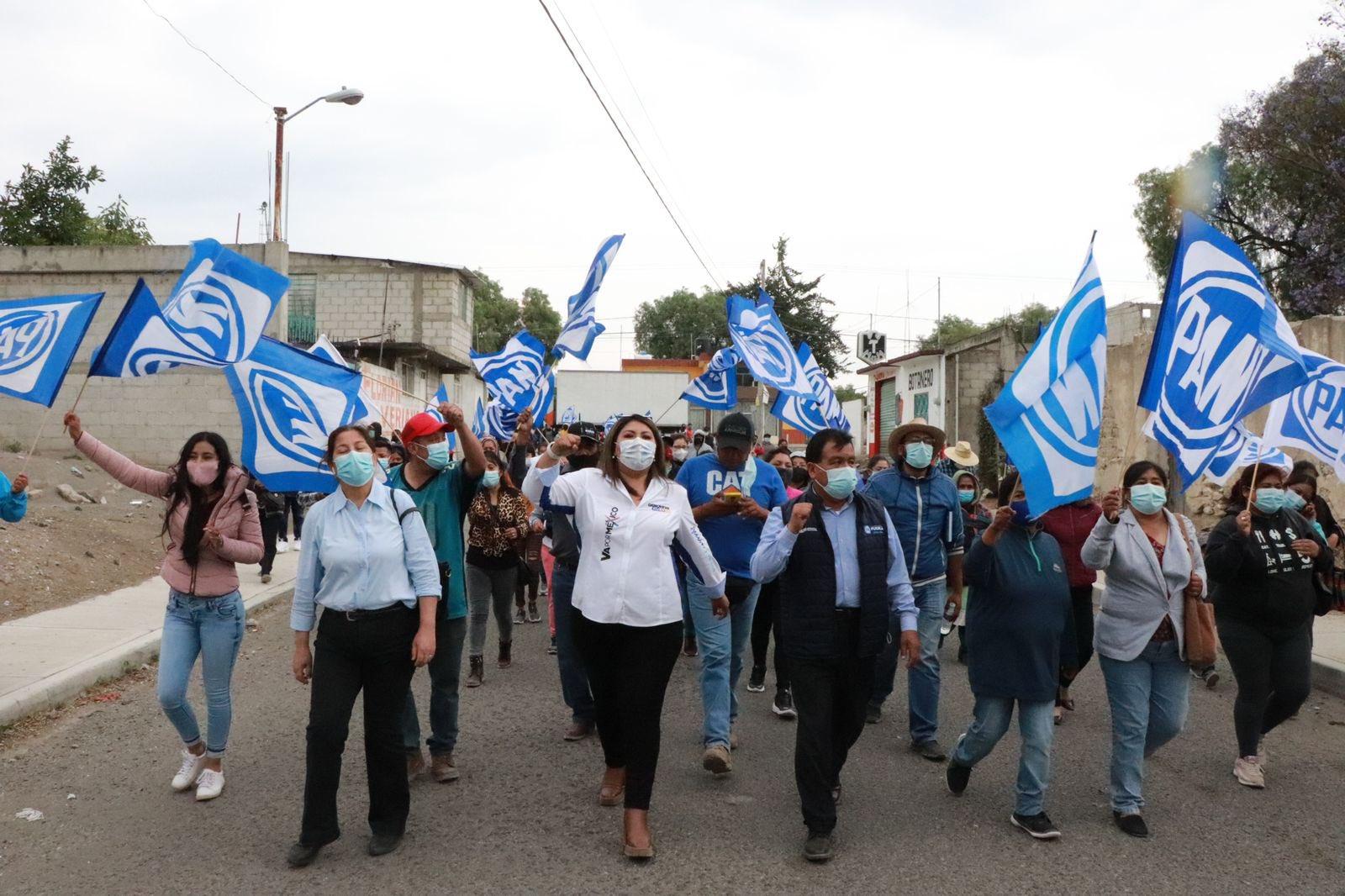 Inaugura Aurora Sierra Rodríguez casa de campaña en San Pedro Cholula