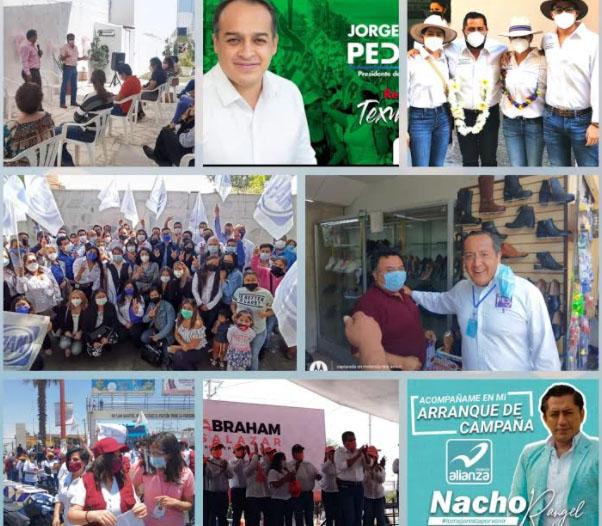 Con caminatas y eventos al aire libre arrancan campañas en Texmelucan