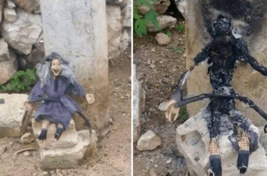 Con muñecos causan terror en calles, vecinos ya quemaron uno