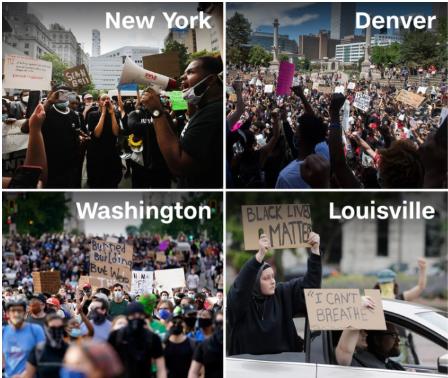 Crece la indignación en protestas por la muerte de George Floyd