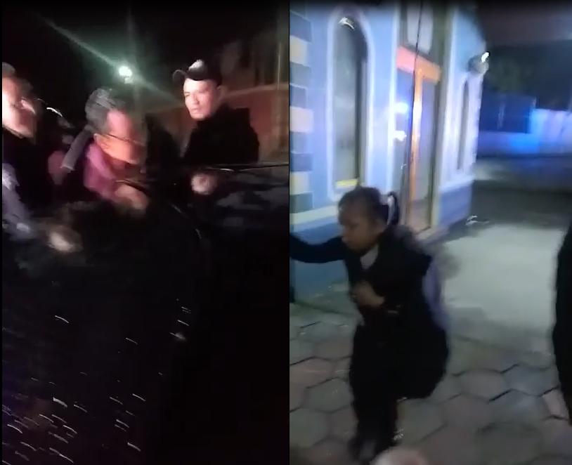 VIDEO Lanzan gas lacrimógeno a familia durante detención en Tlacotepec