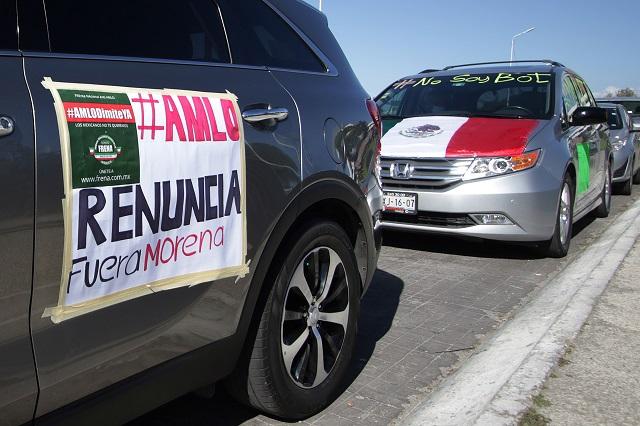 Realizan en Puebla la cuarta caravana AntiAMLO